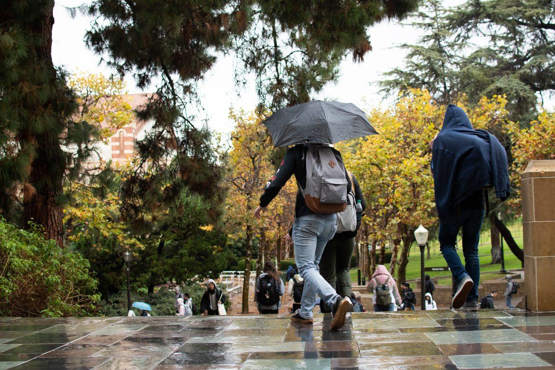 A Rainy Day at UCLA