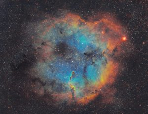 The Elephant's Trunk Nebula is a concentration of interstellar gas and dust within the much larger ionized gas region IC 1396 located in the constellation Cepheus about 2,400 light-years away from Earth.