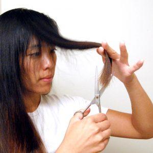 Vertical Hair Cutting Technique